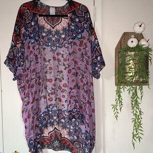 Pretty patterned kimono